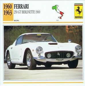 1960 ADVERTISEMENT - 1960 FERRARI 250 GT BERLINETTE RACING CAR