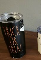 Rae Dunn BLACK TRICK OR TREAT Insulated Stainless Tumbler w/ Lid 17oz