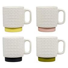 Orla Kiely Stacking Mugs Set of 4 Pressed Flower