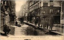 CPA PARIS La rue Bellechasse INONDATIONS 1910 (605666)