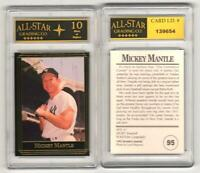 Vintage MICKEY MANTLE NY Yankees 1992 Investor's Journal #95 GRADED ASG 10 MINT
