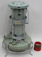 ALADDIN Vintage Paraffin Kerosene Blue Flame Series 37 Space Heater Green w/Wick