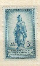 US 989 National Capital, Statue of Freedom 3c single MNH 1950
