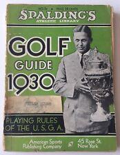 1930 Spalding's Golf Guide Bobby Jones Cover