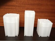 10 tubes neuf  pour stockage pièces jusqu'a 21 mm, ideal 20 francs or