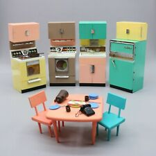 Vintage Deluxe Reading Corp Barbie Doll Dream House Home Toy Kitchen Set Dishes