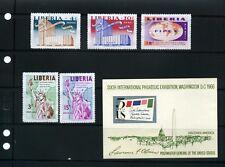 FIPEX- SIXPEX--INTERNATIONAL PHILATELIC EXHIBITION  U.S. LIBERIA- U.S.A. 1965/66