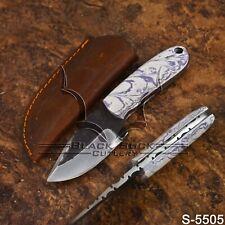 5505   Black Buck's Handmade High Carbon Steel FULLTANG Skinner Knife   W/Sheath
