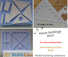 Stone Buildings Apex Sections Mould - NS13 for Model Railways - OO Gauge