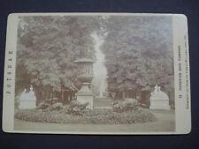 Original -CDV Foto 1879: Durchblick nach Schloß Sanssouci von Sophus Williams