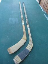 """New listing Vintage 2 Wooden 54"""" + 57"""" Long Hockey Stick Sher-Wood Pmp 5030"""