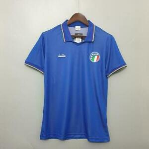 Italy 90 Football Soccer Shirt Jersey Retro Vintage Classic 1990 UK New Medium