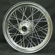 """Chrome Ultima 40 Spoke 16"""" x 3.0"""" Rear Wheel for Harley Models 1984-1999"""