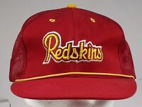 Washington Redskins Snapback Hat NFL Stitched label red Mesh Braid Vtg 80's