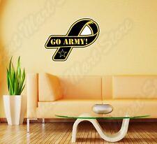 "Go Army Ribbon USA Military Veteran Wall Sticker Room Interior Decor 25""X20"""
