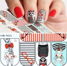 Animals With Glasses Nail Wraps (water decals) Cute Nail Art