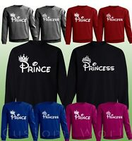 Prince & Princess - Couple Sweaters His And Hers New Color Matching Crewnecks