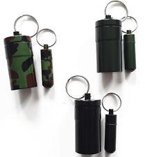 6 x Set Micno Behälter Schlüsselring Versteck Metall Micro Aufhängen Geocaching