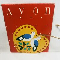 Avon Christmas The Twelve Days Of Christmas Ornaments Two Turtle Doves in Box