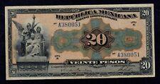 MEXICO 20 PESOS GOBIERNO CONSTITUCIONALISTA   D. 1915  PICK # S687a VF.