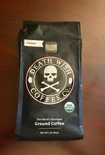16oz Death Wish Coffee Co 1 lbs Deathwish Ground Strongest Organic Exp 05/2020