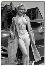 Marilyn Monroe with Car, Movie Star, 2 x 3 Souvenir Photo Fridge Magnet #MM6