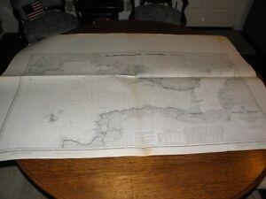 Vintage US Navy Nautical Chart ,ENGLAND-WEST COAST,BRISTOL CHANNEL