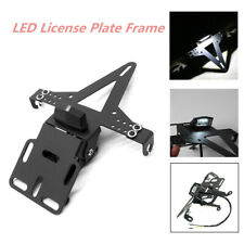 12V LED License Plate Frame Cover Iron Bracket Eliminator Taillight Motorcycle