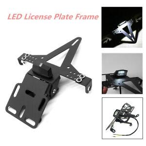 12V LED License Plate Frame Cover Iron Bracket Eliminator Taillight Motorcycle