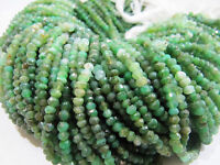 """AAA Chrysoprase Rondelle faceted Beads , Size 3 to 4mm 13""""Strand , FREE SHIPPING"""