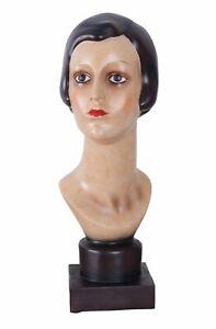 Bust of Woman Art Deco 30er Years Women's Head Shop Window Dummy Female Figure