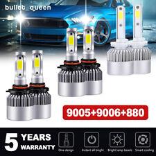 9005 9006 880 LED Headlight + Fog Lights for Nissan Armada 05-10 Titan 2004-2015