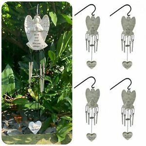 Angel Memorial Wind Chime + Hanging Crook Graveside Remembrance Tribute Plaque