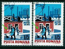 1970 Flood,Workers,Truck,Rebuilding destroyed houses,Romania,Mi.2886,Error/3,VFU