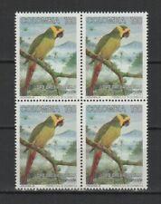 Colombie 1994 oiseaux La Conure à joues d'or bloc de 4 timbres neufs MNH /TR8361