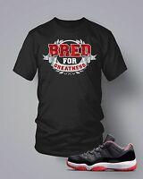 T Shirt to Match Retro Air Jordan Bred 11 T Shirt  Pro Club Short Sleeve Black