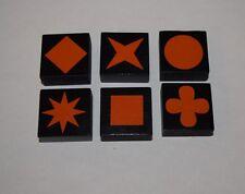Qwirkle Replacement Parts Game Tiles LOT of 6 - Orange  #QWT06