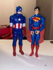Captain America & Superman Action Figures Great Condition! FAST DISPATCH ✅