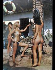 """ILE DU LEVANT (83) NATURISME au RESTAURANT """"LA BRISE MARINE"""" en 1971"""