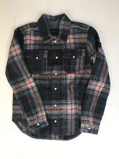Boy Finger in the Nose WOOL Western Lumberjack Shirt Overshirt 10/11 Years Plaid