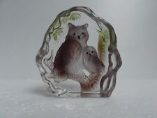 Crystal Paperweights Animals Two Owls Figurines Collectibles Wedding Decoration