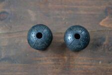 Vintage GEM Bar End Plugs Black Plastic Made in England 1980's