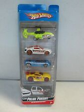 Hot Wheels 5 Car Gift Pack Police Pursuit w Helicopter