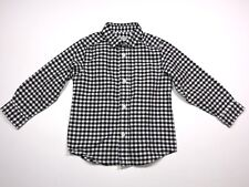 The Childrens Place Toddler Boys Button Up Shirt Size 2T Plaid Black, White
