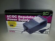 220 Volt ARISTA AC/DC REGULATED 1.5V TO 12 Volts 1200 mA 220VAC POWER SUPPLY  Q8