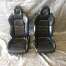 00-05 S2000 S2K Black Ebony Leather Dual Manual Buckets Interior Seats Tracks OE