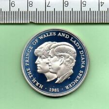 More details for 1981 genuine charles and diana wedding boxed silver proof decimal crown