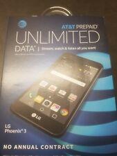 LOT OF 2 LG Phoenix 3 AT&T Prepaid 16GB