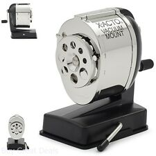 Commercial Grade Vacuum Mounted Manual Pencil Sharpener w/ Dual Helical Cutters