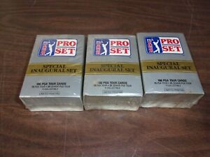 (3) 1990 PROSET SPECIAL INAUGURAL GOLF SET All factory Selaed